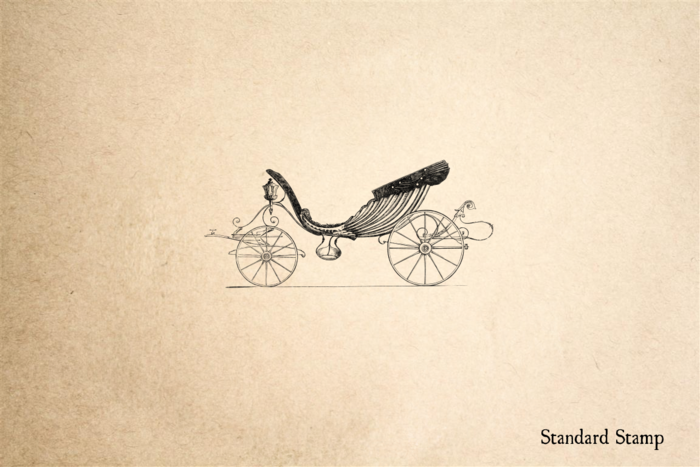 Princess Carriage Rubber Stamp