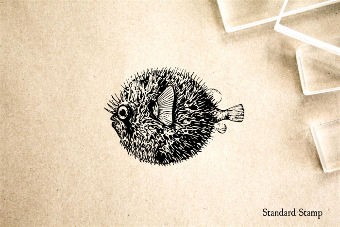 Puffer Fish Rubber Stamp