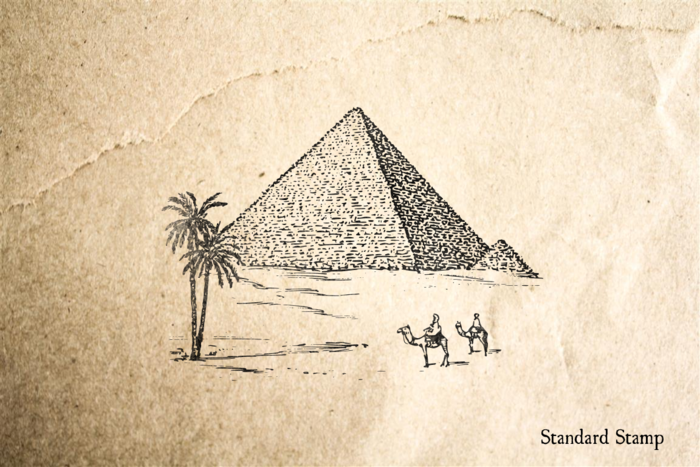 Pyramids Rubber Stamp