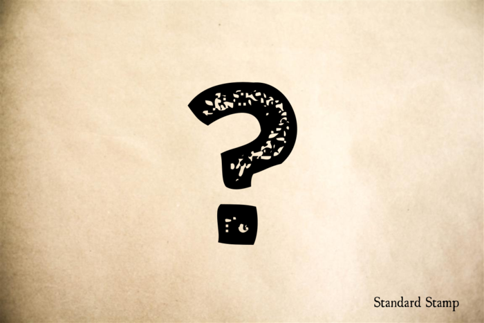 Question Mark Rubber Stamp