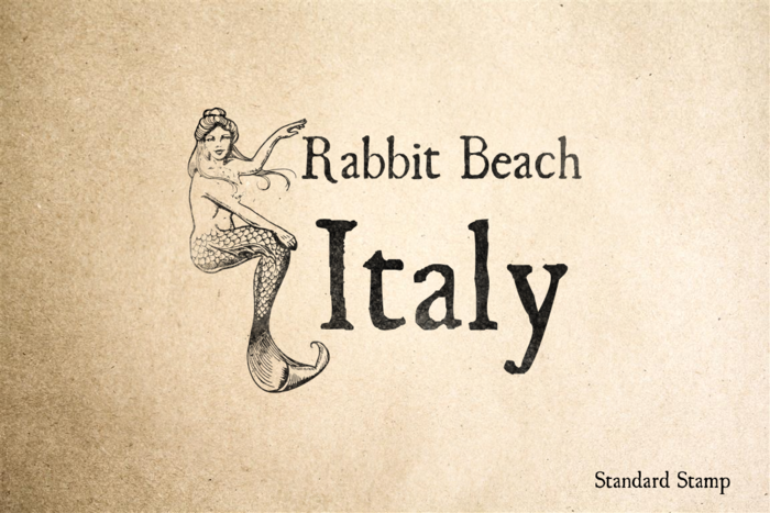Rabbit Beach Italy Rubber Stamp