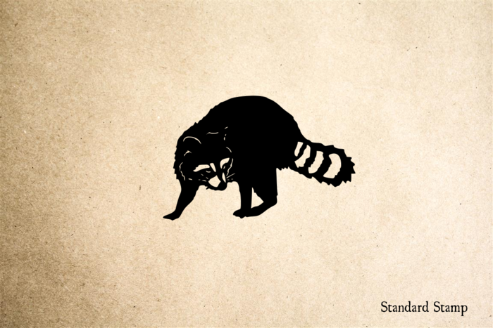 Raccoon Realistic Rubber Stamp