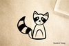Racoon Cartoon Rubber Stamp