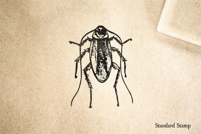 Realistic Cockroach Rubber Stamp