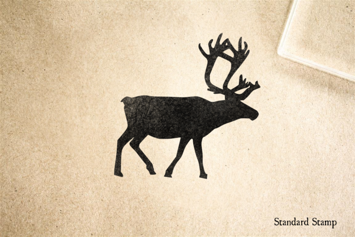Reindeer Silhouette Rubber Stamp