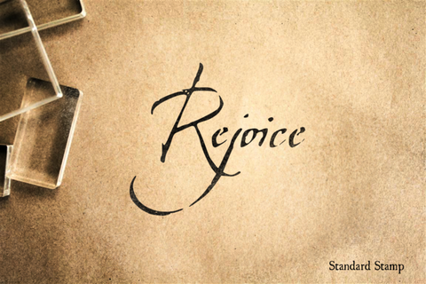 Rejoice Rubber Stamp
