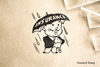 Retro Insurance Man Rubber Stamp