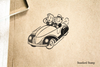 Retro Sunday Drive Rubber Stamp