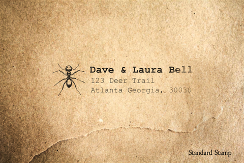 Return Address Ant Rubber Stamp