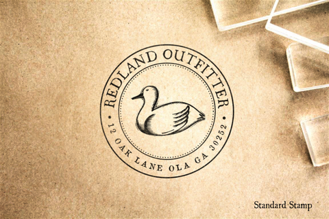 Return Address Duck Rubber Stamp