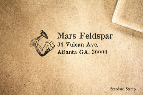 Return Address Forge Rubber Stamp