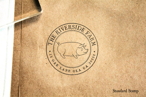 Return Address Pig Seal Rubber Stamp