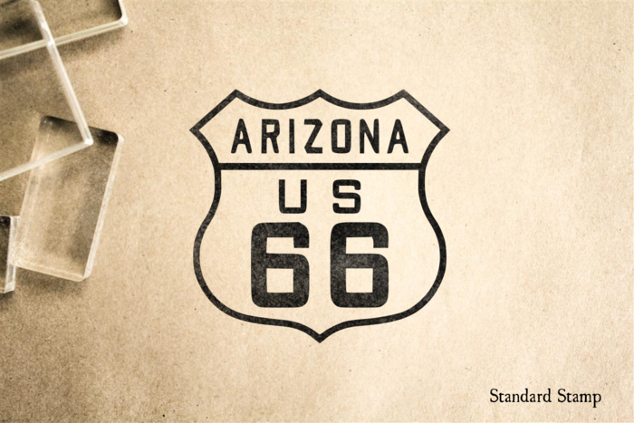 Route 66 Arizona Sign Rubber Stamp