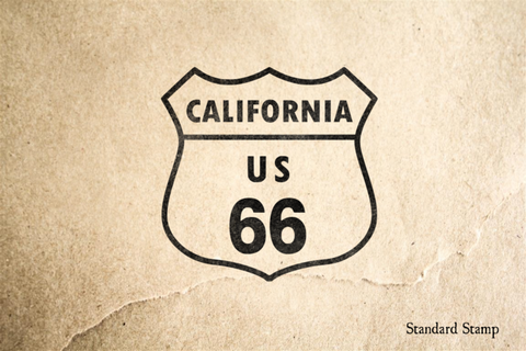 Route 66 California Sign Rubber Stamp