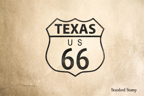 Route 66 Texas Sign Rubber Stamp