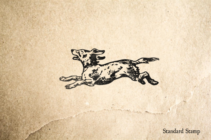 Running Dog Rubber Stamp
