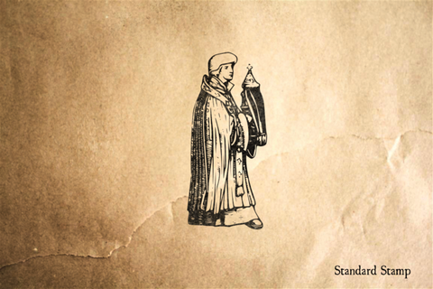 Saint in Robe Rubber Stamp