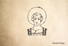 Saint with Halo Rubber Stamp