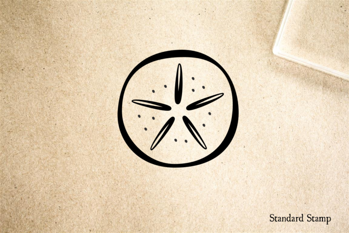 Sand Dollar Cartoon Rubber Stamp Standard Stamp
