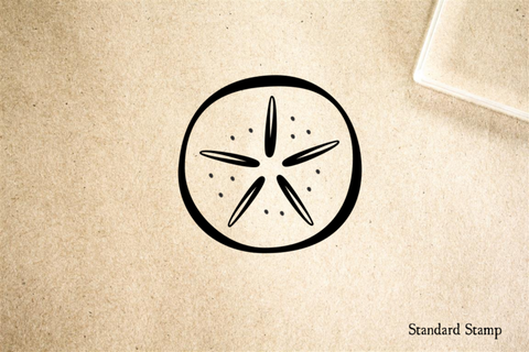 Sand Dollar Cartoon Rubber Stamp