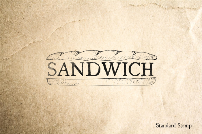Sandwich Rubber Stamp