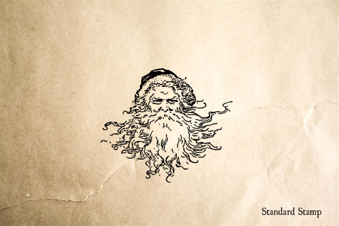 Santa Claus Face Rubber Stamp