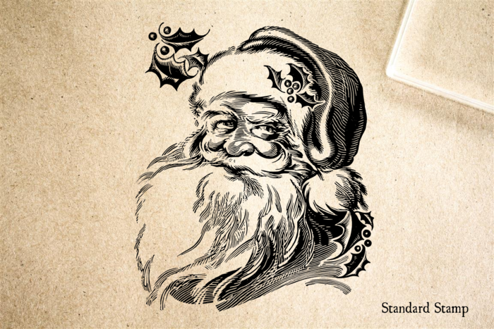 Santa Face Rubber Stamp
