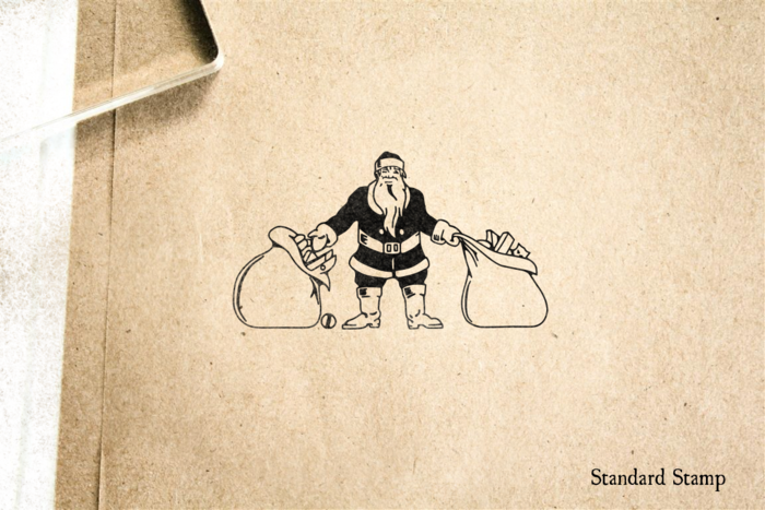 Santa with Toy Sack Rubber Stamp