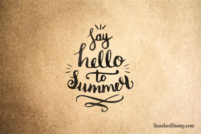 Say Hello to Summer Rubber Stamp