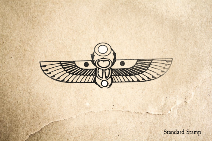 Scarab in Flight Rubber Stamp