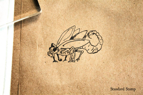 Scorpion Beetle Rubber Stamp