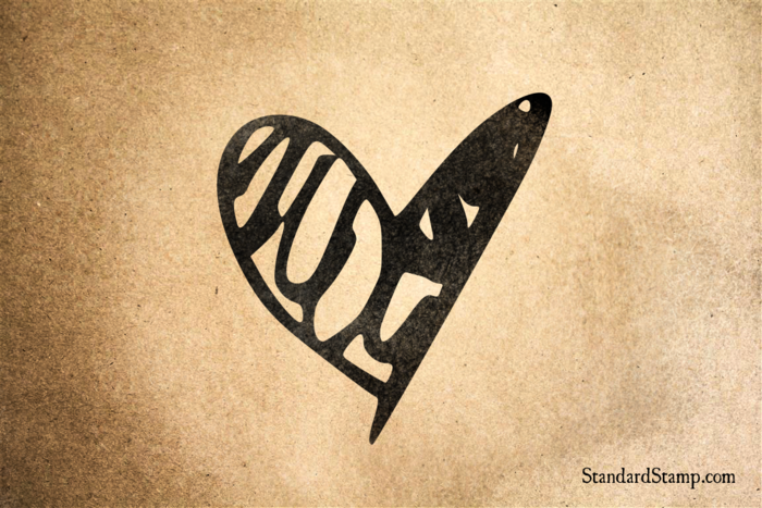 Scribble Heart Rubber Stamp