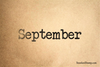 September Rubber Stamp