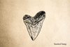 Shark Tooth Rubber Stamp