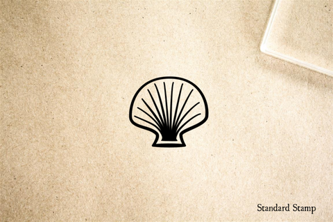 Shell Cartoon Rubber Stamp