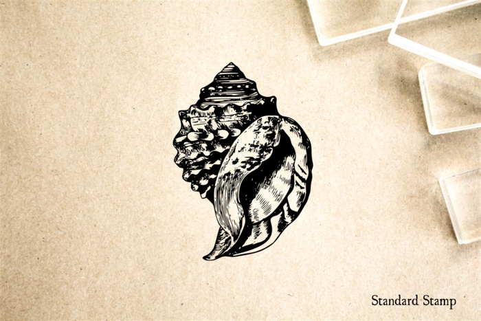 Conch Shell Rubber Stamp
