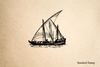 Arabic Sailing Vessel Rubber Stamp
