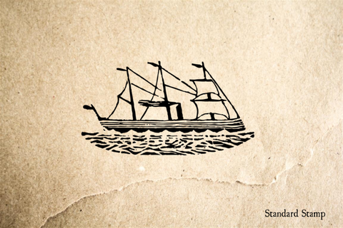 Clipper Ship Rubber Stamp