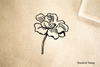 Simple Flower Rubber Stamp