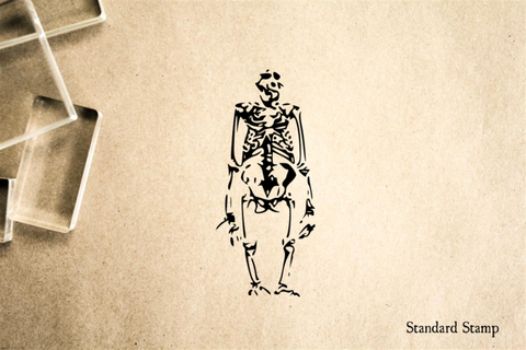 Ape Skeleton Rubber Stamp