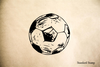 Sketch Soccer Ball Rubber Stamp