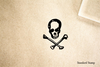Skull Poison Rubber Stamp
