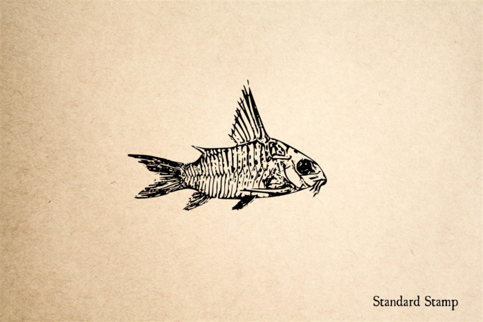Small Fish Rubber Stamp