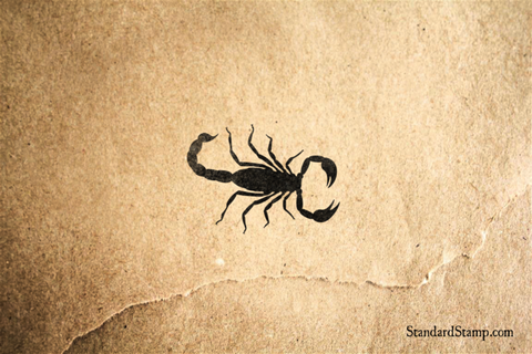 Small Scorpion Rubber Stamp