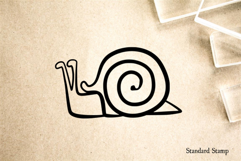 Snail Cartoon Rubber Stamp