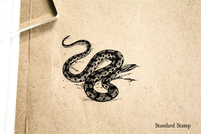 Snake Rubber Stamp