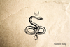Snake and Moon Rubber Stamp