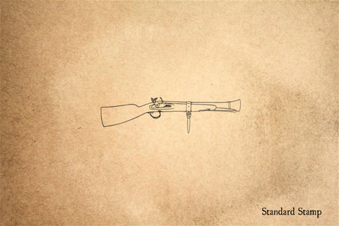 Snaphaunce Musket with Brace Rubber Stamp