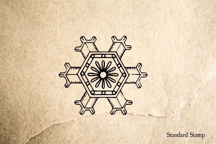 Snowflake 1 Rubber Stamp
