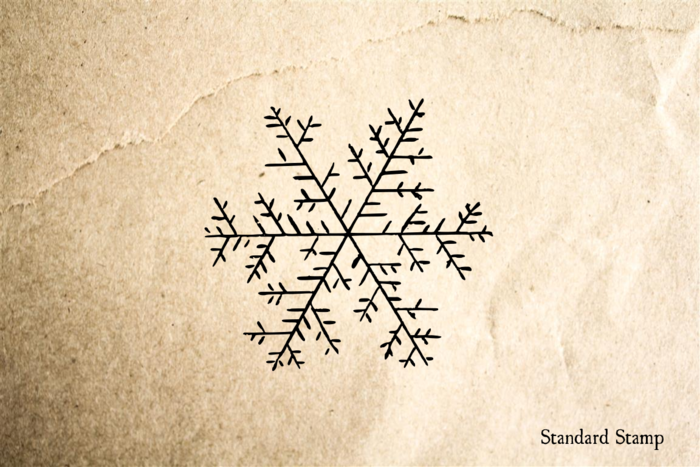 Snowflake 3 Rubber Stamp